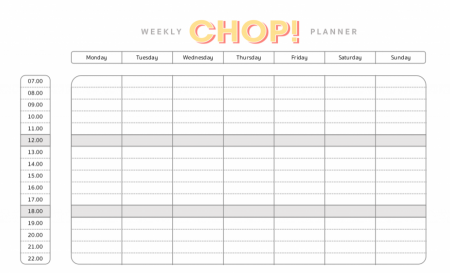A Free PDF for you to plan your week of maximum productivity! | Freebies | Slight Change Of Plans | CHOP!